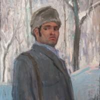 Автопортрет. В парке. Зима. 1969. Х., м.