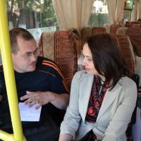 Корреспондент ГТРК Мордовия Альберт Камбаев сразу же приступает к работе. Интервью с М.Н. Королёвой.
