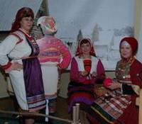 Интерактивная зона в экспозиции мордовского искусства