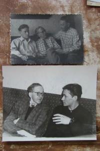 Вверху Юрий Николаевич, Иван Кузьмич и Николай Кузьмич. 1960-е гг. Внизу Иван Кузьмич и Юрий Николаевич