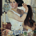 З. Серебрякова. За туалетом. Автопортрет. 1909 — копия