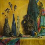 2. Натюрморт с маской. 2009. Холст, масло. Из коллекции О. В. Филипени