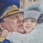 Генерал Шаманов, 50х80, холст, масло