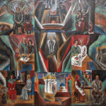 Колчанова Л.Н. Мое житие. Центральная часть триптиха Мое житие. 2000. Х., м. 100х100_измен.размер