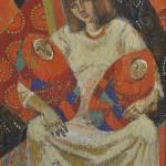 Колчанова-Нарбекова Л.Н. Автопортрет. 1992. Х., темп.__измен.размер