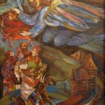 Колчанова-Нарбекова Л.Н. Летний праздник. Правая часть триптиха Мое житие. 2005. Х., м. 70х100_измен.размер