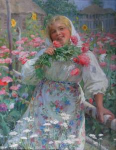 В  цветущем огороде 1913