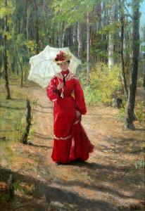 Женщина с зонтиком. 1903