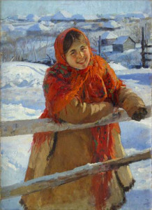 У изгороди. Зима. 1931