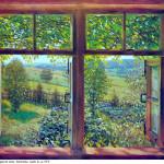 5 Раскрытое окно. Лигачево. 1948. Х., м. ГТГ