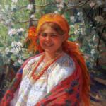 002. Сычков. Девушка в оранжевом платке. 1931