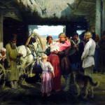 17. Илья Репин Проводы новобранца 1879
