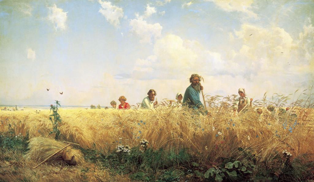 20.Г. Мясоедов. Страдная пора. Косцы. 1887