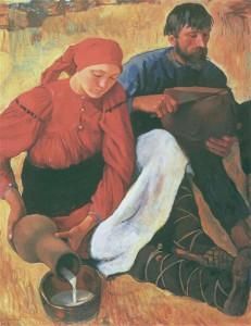 35. Зинаида Серебрякова Крестьяне 1914