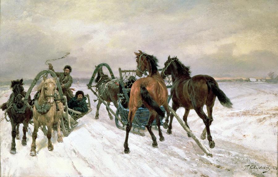 П.О. Ковалевский. Встреча. 1871 г. ГТГ
